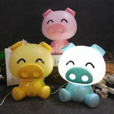 Lovely Cartoon Pig Night Light LED Table Desk Lamps Children Baby Kids Bed Lamp