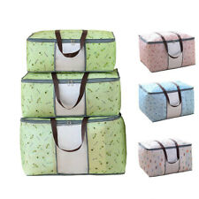 Storage Bag Clothes Foldable Storage Cherry Printed Organizer Box Waterproof