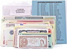 100 Different World Banknotes,Uncirculated Foreign Set With List