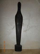 ancienne Vierge noire sculptée en ébène - 39 cm