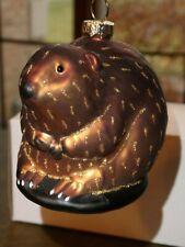 Cobane Studio Beaver hand-blown glass hand-painted Ornament COBANE