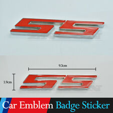 Red SS 3D Metal Chrome Racing Emblem Badge Decal Sticker Car Logo