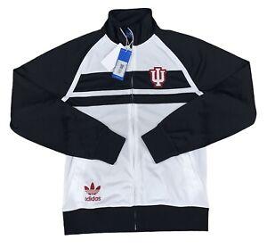 Indiana Hoosiers Adidas Black & White Full Zip Track Jacket Sm-XXL NEW!!