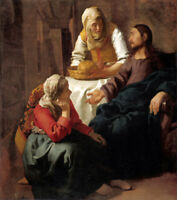 """oil painting handpainted on canvas""""Christ in the House of Martha and Mary """"N6525"""