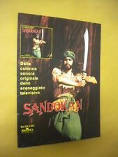 SANDOKAN CARTONATO PUBBLICITARIO DISPLAY ADVERT COLONNA SONORA CM 20x29