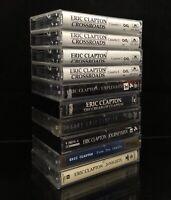Eric Clapton 10 Cassette Lot Crossroads Box Set Unplugged Journeyman Unplugged