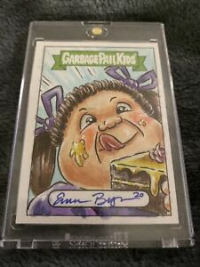 2020 Garbage Pail Kids 35th Anniversary Full Color Sketch By Emma Burges GPK