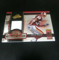 2005 Carlos Rogers Playoff Absolute NFL Rookie Jersey Collection Card