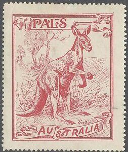 "AUSTRALIA CINDERELLA LABEL ""PALS"" KANGAROO (ORIGINAL ISSUE) UNUSED"