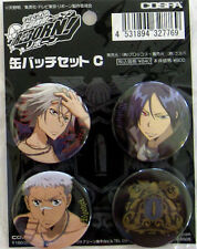 Hitman Reborn 4 Button Set Gokudera, Mukuro, Ryohei, Vongola Symbol Licensed NEW