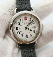SWISS ARMY,Date/Just,Classic Millitary Round,Glo Hands Nylon Band MEN'S WATCH 15