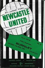 Football Programme>NEWCASTLE UNITED v BURNLEY Apr 1968