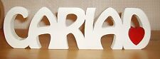 CARIAD welsh freestanding wooden plaque/sign