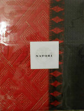One Natori Geisha King Coverlet Red Black Pillow Sham