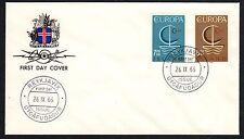 ISLANDA 1966 FDC Europa CEPT