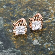 18K Rose Gold Filled CZ Hoop Earrings (E-287)