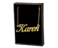 Name Necklace Karen – 18K Gold Plated | Personalized Love Best Friend Name Plate
