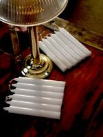"""(36) THREE DOZEN 6"""" WHITE CANDLES Replacement For PARTYLITE(tm) Library Lamp"""