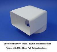 Flat rectangular rigid ducting vent grille 55x110mm ebay for Grille de ventilation fenetre pvc