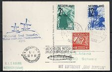Netherlands 1932 Zeppelin Ppc Rotterdam-Waalhaven Rare!
