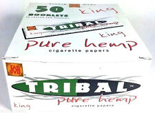 50 Books Job Tribal Pure Hemp King Size Rolling Papers made in France