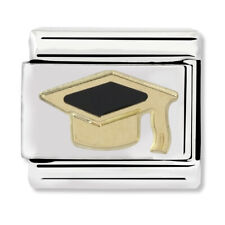 GENUINE Nomination Classic Graduate Steel & Gold Charm 030223/08 / £22 RRP