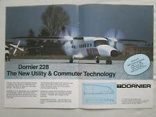 8/1980 PUB DORNIER 228 COMMUTER AIRCRAFT AVION FARNBOROUGH AIRSHOW ORIGINAL AD