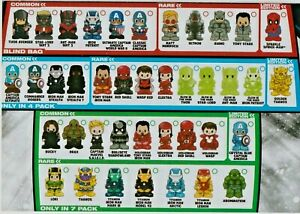OOSHIES Common , Rare & Limited Edition Marvel Series 2 Collection