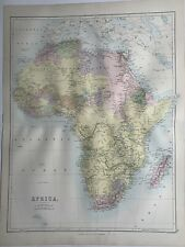 1884 Africa Original Antique Map by John Bartholomew 137 Years Old