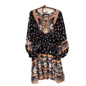 Jaase Adela Mini Dress Eternity Print Flowy Boho Size XS New With Tags