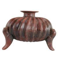 Pre-Columbian Colima Slip-Glazed Earthenware Tripod Vessel