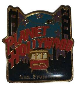 "Planet Hollywood San Francisco California Gold Tone Enamel Pin Trolley Car 1.5"""