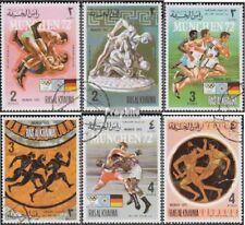 ras al chaima 788A-793A (complète edition) oblitéré 1972 Sports le antiquité et
