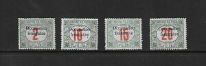 L8687 HUNGARY, MAGYAR KIR POSTA 1920 FRENCH OCCUPATION POSTAGE DUE STAMPS MNH