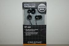 Creative EP-660 In-Ear Noise Isolating Headphones Earphones Earbud - Black Newww