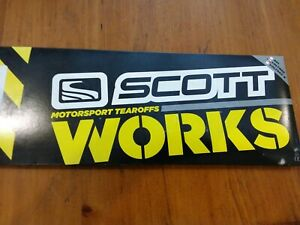 SCOTT WORKS TEAR OFFS VOLTAGE GOGGLE GOGGLES 20PK 205154-223 NS291A