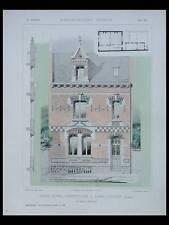 SAINT QUENTIN, HOTEL PARTICULIER -1905- PLANCHES ARCHITECTURE- LIEGE, HALKIN