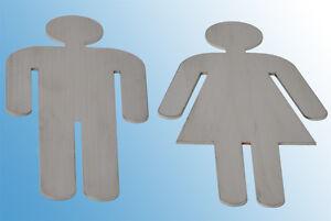 WC-Schild Damen + Herren Set Edelstahl Türschilder WC Toilettenschild Badschild