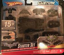 Hot Wheels Custom Motors Batman Starter Set The Batmobile 100+ Combinations New