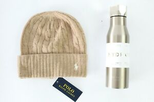 Polo Ralph Lauren Cashmere Wool Blend Beanie Hat with Free Ted baker flask