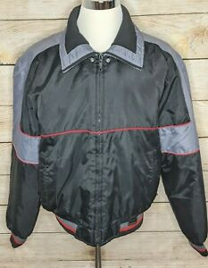 Vintage Yamaha Maxim Wear Lined Nylon Snowmobile Racing Jacket Men's Size XT
