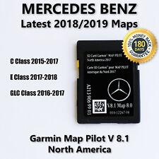 2015-2017 Mercedes-Benz Sd Card Gps Navigation Glc E C-Class Garmin Map Pilot(Fits: Mercedes-Benz)
