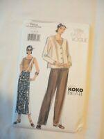 Vtg 1999 Sewing Pattern  Koko Beall Jacket-Top-Skirt-Pants Size 12-14-16 Uncut