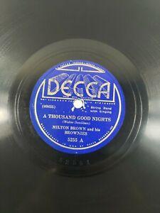 """Milton Brown 78 RPM 10"""" –A Thousand Good Nights / Baby Keep Stealin VG+ Rare A2"""