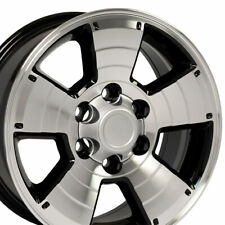 "17"" Rim Fits Toyota 4Runner Tacoma Tundra TY09 Black Mach'd Face 69429 17x7.5"
