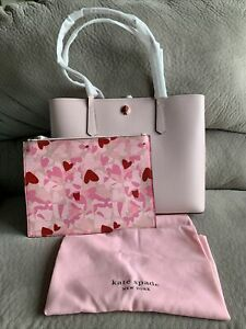 NWT KATE SPADE $358 LARGE MOLLY TUTU PINK HEARTS PARTY TOTE BAG $358 Authentic