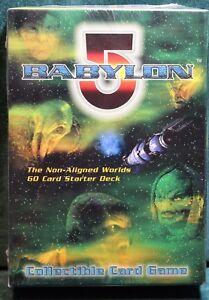 BABYLON 5 60 CARD STARTER DECK THE NON-ALIGNED WORLDS FACTORY SEALED