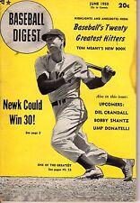 1950 (June) Baseball Digest  magazine, Joe DiMaggio, New York Yankees ~ Fair