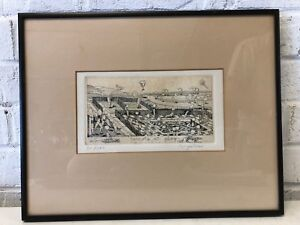 "Vintage ""Carrots at Play"" Signed Etching by David Bigelow 51/100"