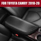 Carbon Fiber Look Center Armrest Console Cover Trim For Toyota Camry 2018